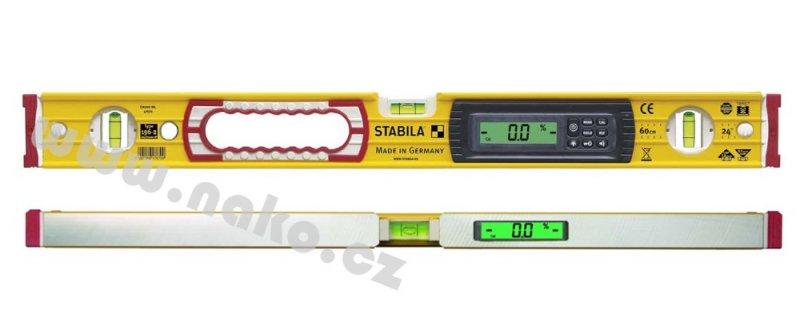 STABILA typ 196-2 electronic vodováha se sklonoměrem 60cm