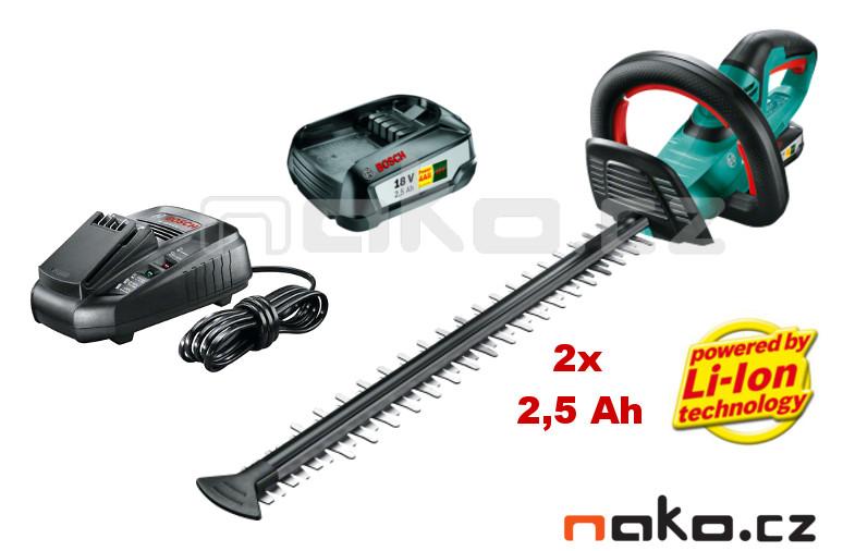 BOSCH AHS 50-20 LI aku nůžky na živé ploty 18V 2x 2,5Ah 0600849F04 | NAKO Pardubice