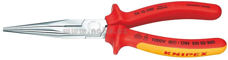 KNIPEX 2616200 kleště ploché zúžené dlouhé 1000V