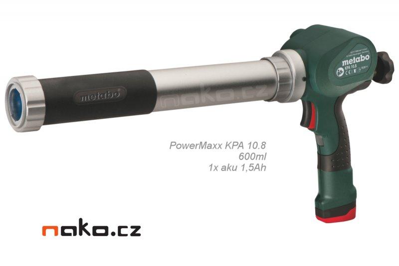 Metabo PowerMaxx KPA 10.8 600ml (1x1,5Ah) aku vytlačovací pistole na tmely