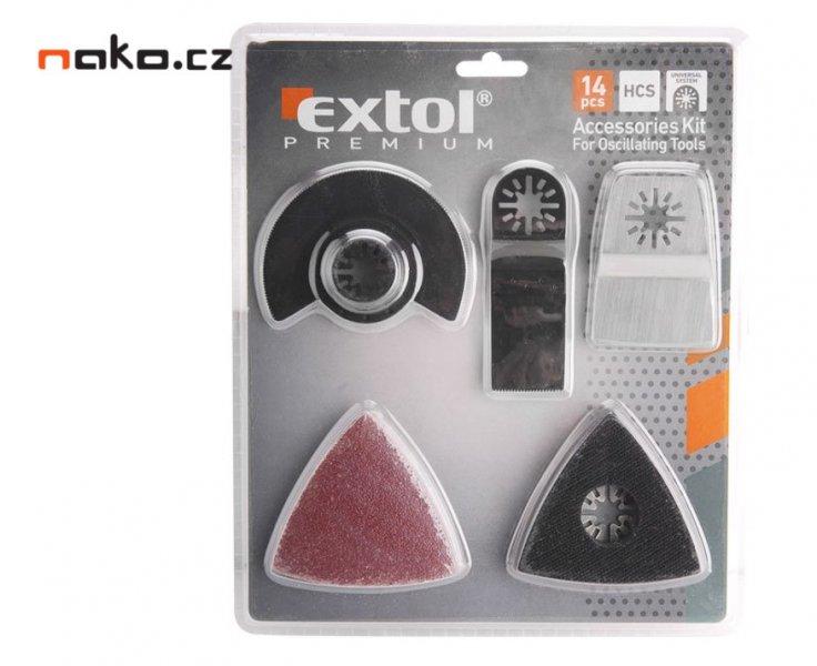 EXTOL PREMIUM 8803820 nástavce pro oscilační brusku, sada 14ks