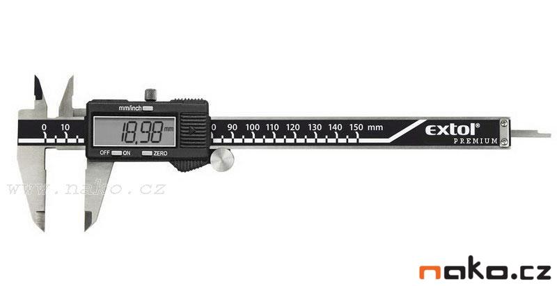 EXTOL Premium měřítko posuvné digitální 150mm velký displej 3426