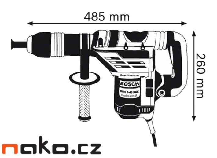 BOSCH GBH 5-40 DCE Professional vrtací kladivo SDS-max