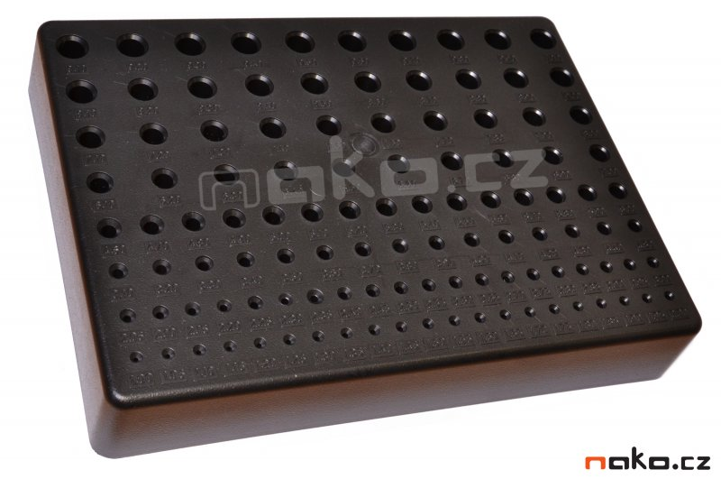 Pořadač na vrtáky 1.0-10.0mm plastový