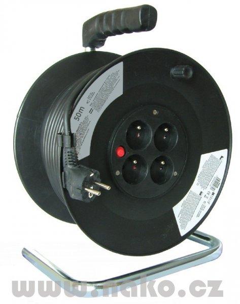 Kabel prodlužovací 30m/4zásuvky bubnový 430153