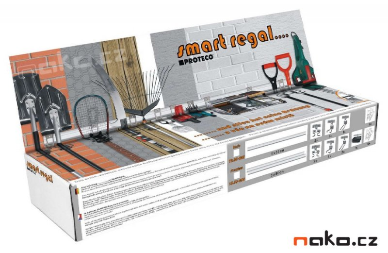 PROTECO smart regal závěsný regálový systém 8 dílný 10.99-008