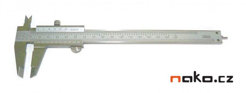 KINEX měřítko posuvné 150/0.02 s hloubkoměrem, aretace šroubkem, 251238, 6000.2