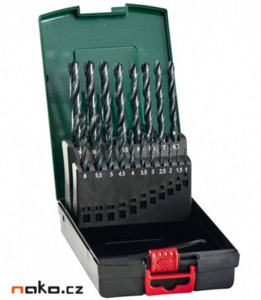 Metabo sada vrtáků HSS 19 dílů 1-10mm po 0,5mm, 627164