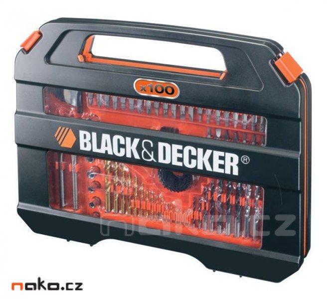 BLACK&DECKER A7154 sada bitů a vrtáků - 100dílů