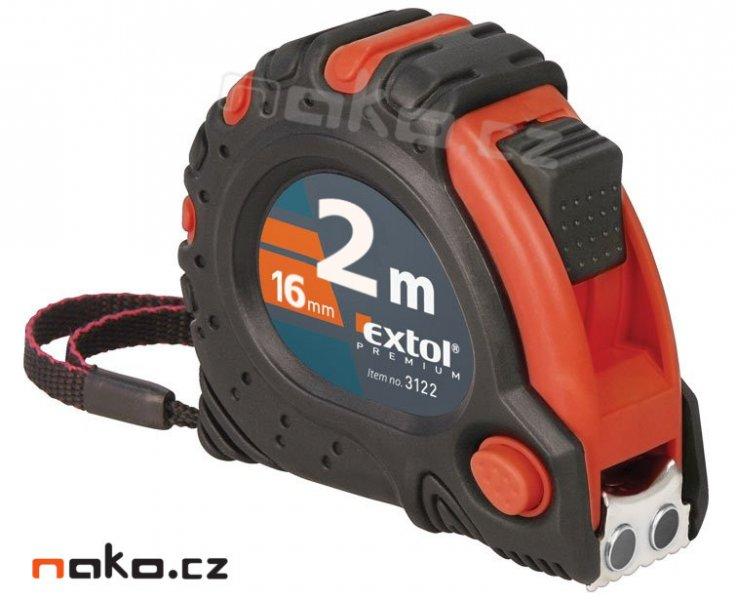EXTOL PREMIUM 3122 svinovací metr 2m magnetický pogumovaný, 16mm