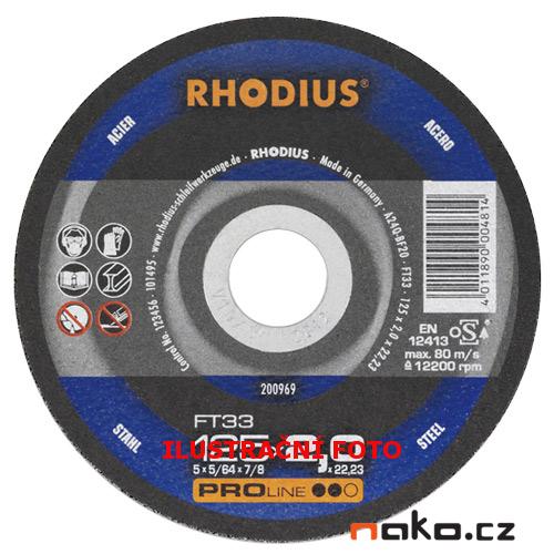 RHODIUS 150x2.0 FT33 PROline řezný kotouč na ocel
