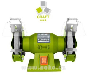 EXTOL CRAFT 410120 bruska stolní dvoukotoučová, 150W, 125mm