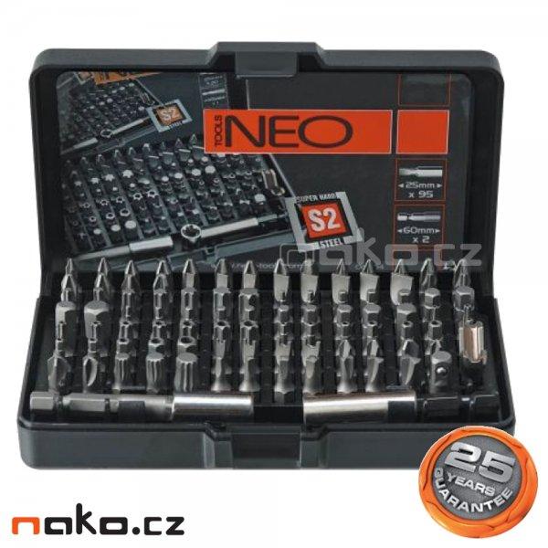 NEO TOOLS sada bitů 99 dílná 06-104