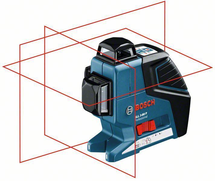 BOSCH GLL 3-80 P Professional křížový laserový nivelační přístroj 0601063305
