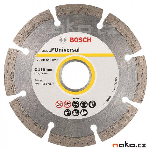 BOSCH diamantový řezný kotouč Eco for Universal 115x22mm 2608615027