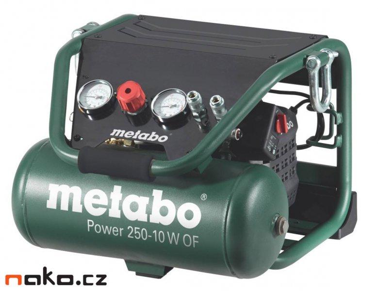METABO Power 250-10 W OF přenosný bezolejový kompresor 601544000