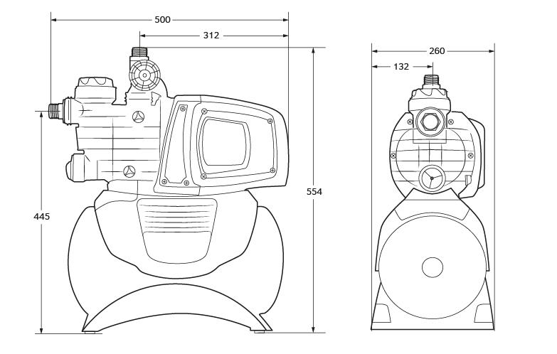 EASY BOOST 1100 DIGITAL elektronická samonasávací domácí vodárna