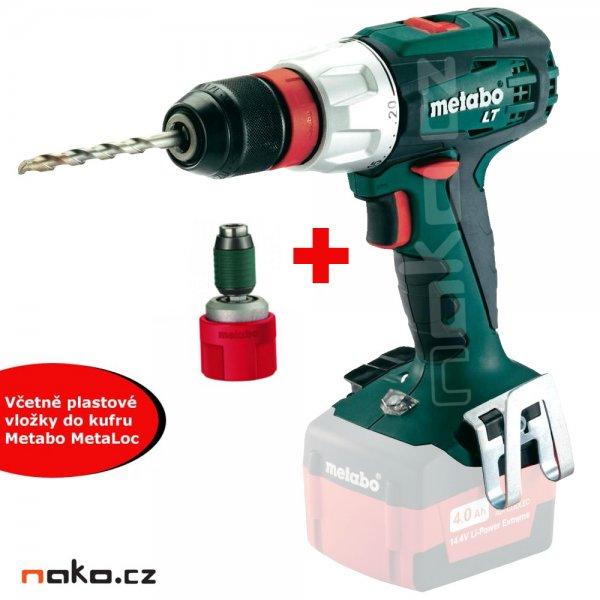 METABO BS 18 LT Quick aku vrtačka bez baterií s vložkou do kufru MetaLoc 602104890