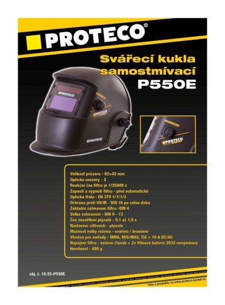 Kukla svářecí samostmívací PROTECO P550E
