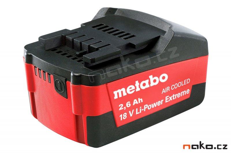 METABO akumulátor 18V 2,6Ah Li-Power Extreme, Li-Ion 625459 - ORIGINÁL