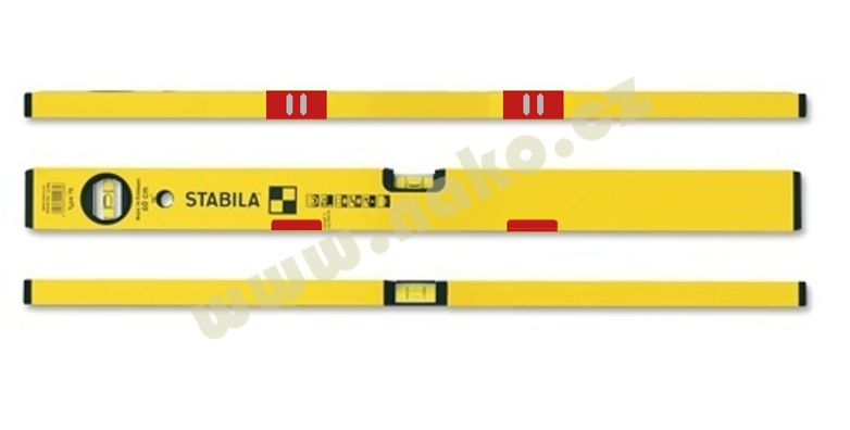 STABILA 70M vodováha 150cm magnet. přesnost 0,5mm/m