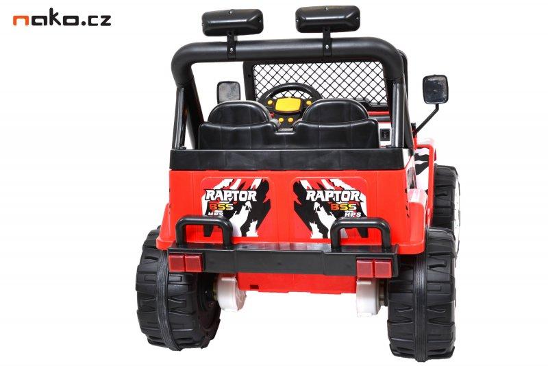 HECHT 56185 dětské auto na baterie OFFROAD červené 2x 6V, 10Ah, 2x 25W