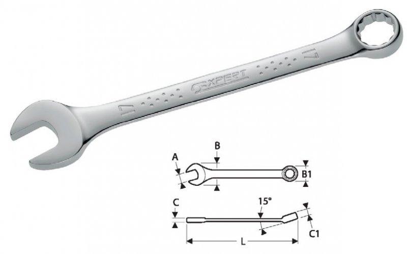 Klíč očkoplochý 6 TONA EXPERT E113202T