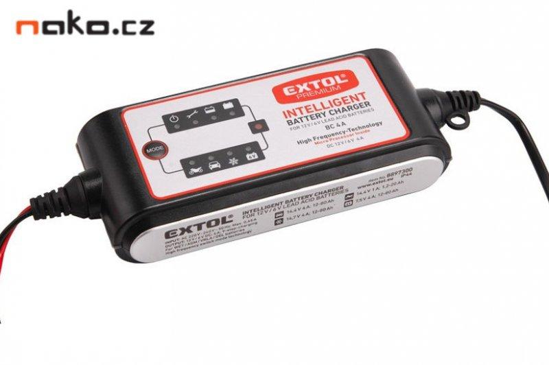 EXTOL PREMIUM BC 4 A elektronická nabíječka na autobaterie 8897300