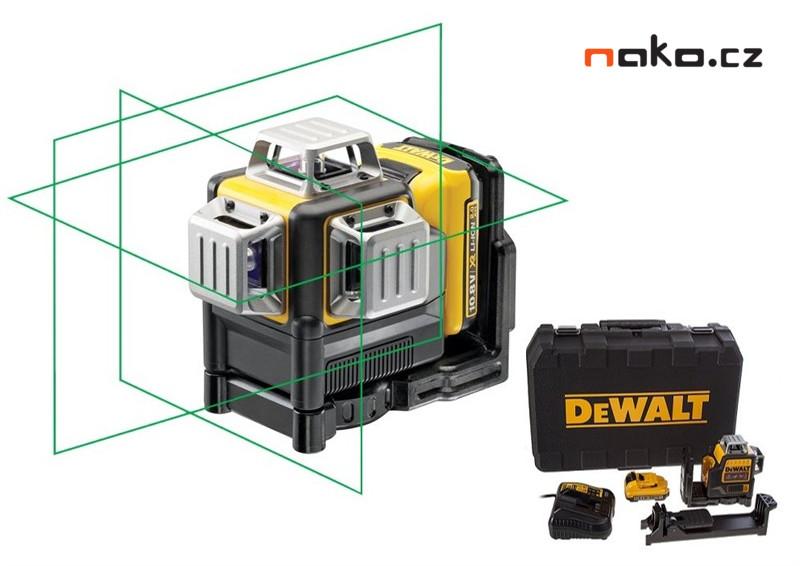 DeWALT DCE089D1G Aku křížový laser 360° 10,8V 2,0Ah, zelený paprsek