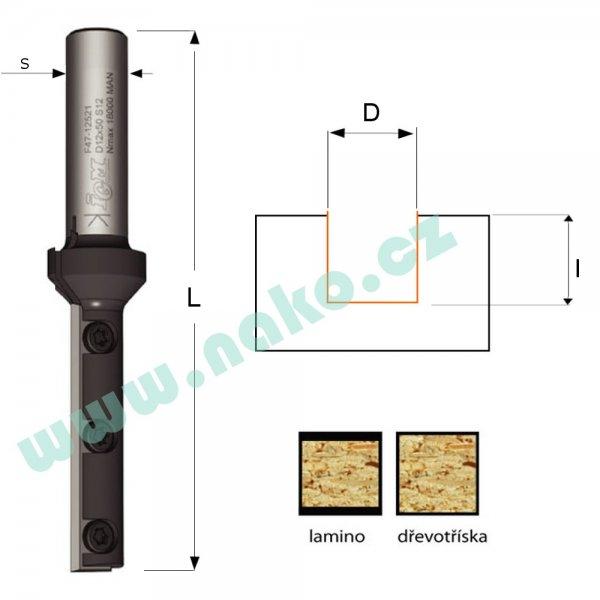 CMT F047-12381 fréza žiletková D12-29,5 L77