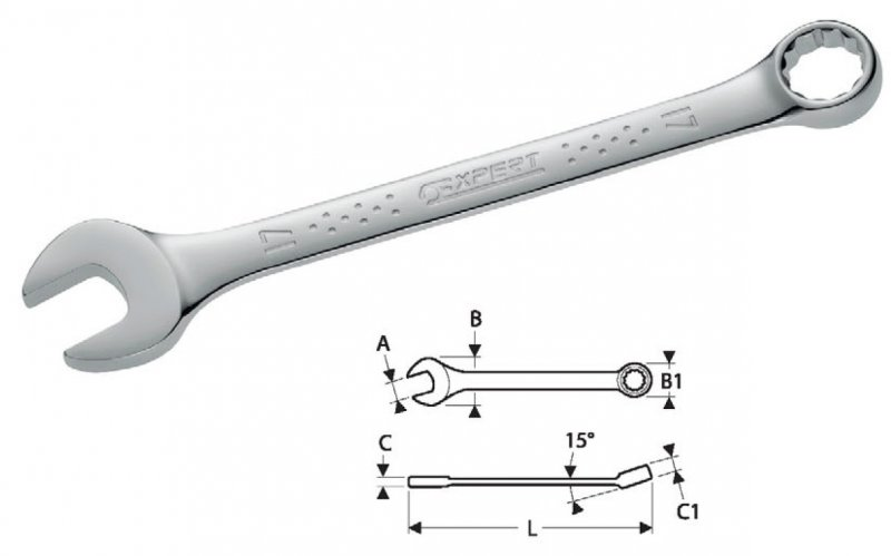 Klíč očkoplochý 16 TONA EXPERT E113211T