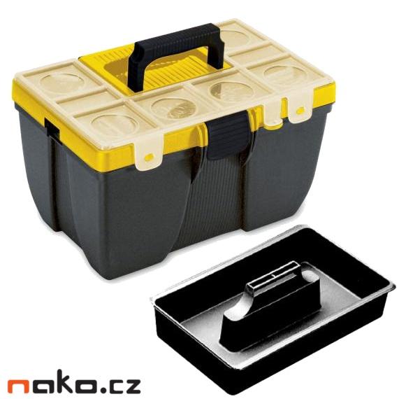 CARGO 413 box s víkem 380x260x220mm, polička