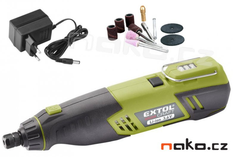 EXTOL CRAFT 402200 přímá aku bruska 3,6V Li-Ion 1,3 Ah