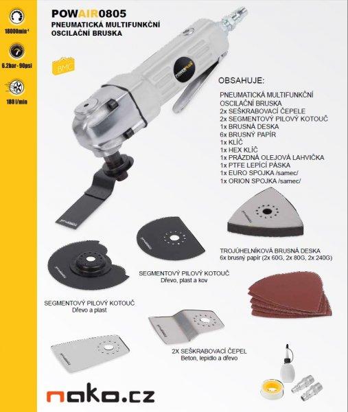POWERPLUS POWAIR0805 pneumatická oscilační multifunkční bruska