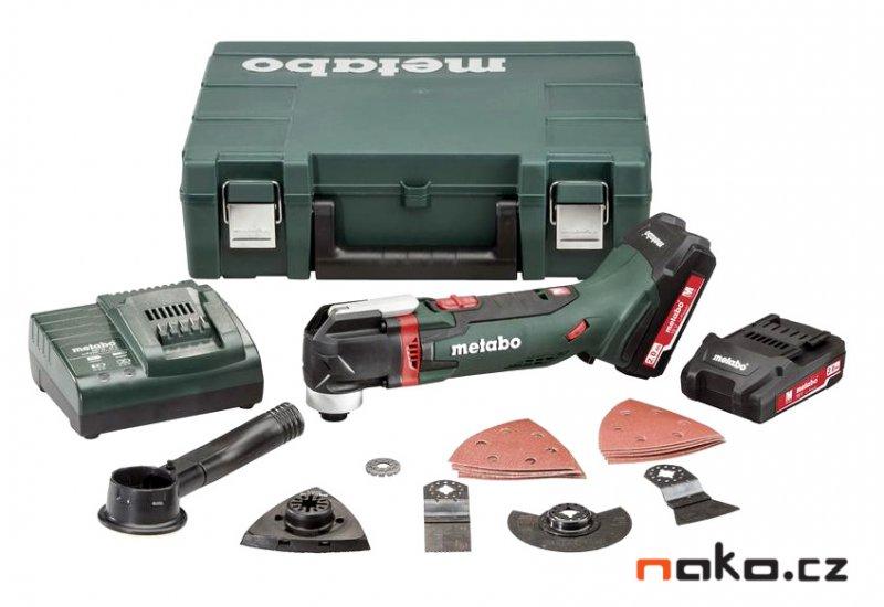 METABO MT 18 LTX Compact aku oscilační multi bruska 2x2Ah 613021510