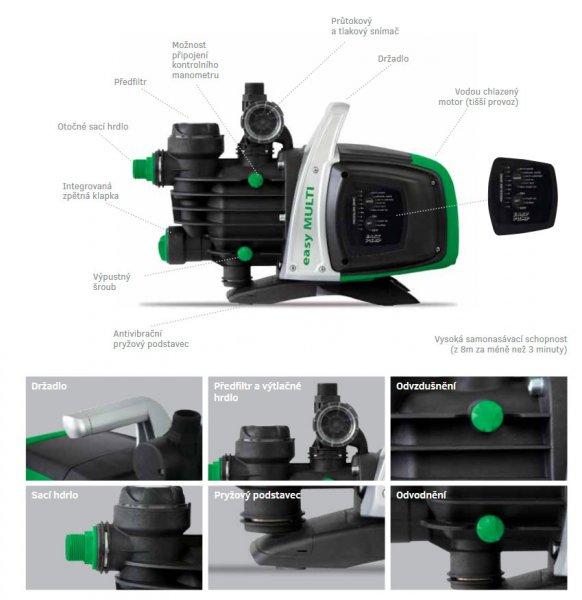 EASY MULTI 1000 Automatic elektronická vícestupňová vodárna