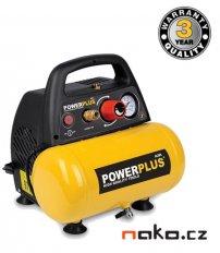 POWERPLUS POWX1720 bezolejový kompresor 6l