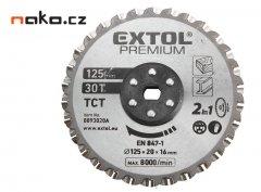 EXTOL PREMIUM kotouč řezný na kov, dřevo a plast 125x20x16mm pro TC...