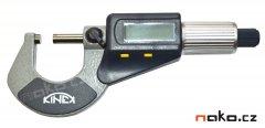 KINEX mikrometr třmenový digitální 0-25mm, 0,001mm, 7031
