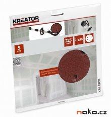 KREATOR KRT232007 brusný výsek 225mm 5ks G150