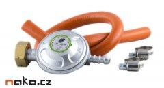 MAGG 110004 plynový regulátor 30mbar a hadice 8mm/50cm se sponami