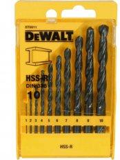 DEWALT DT5911 sada vrtáků HSS-R 10 dílů 1-10mm