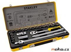 """STANLEY STMT74183-8 sada hlavic 1/2"""" 24-dílů -kovový kufr"""