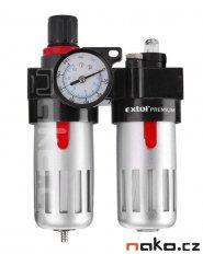 EXTOL PREMIUM regulátor tlaku s filtrem manometrem a přimazávačem v...