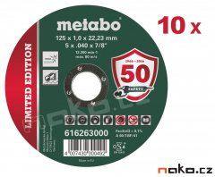 METABO 125x1mm Inox TF 41 řezný kotouč 616263 - 10ks