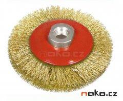 Kartáč drátěný talířový 100mm, vlnitý drát, M14