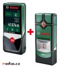 BOSCH PLR 50 C laserový dálkoměr + PMD 7 detektor materiálů 06159440J2