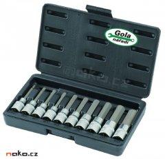 GOLA 126310L sada prodloužených imbusových hlavic 5-19mm