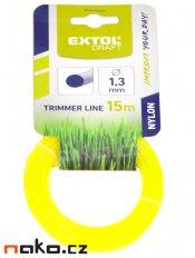 EXTOL CRAFT 70901 struna do sekačky pr.1,3mm/15m, kruhový profil, nylon