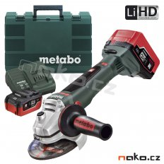 METABO WB 18 LTX BL 125 Quick 2x5,5 Ah LiHD aku úhlová bruska 61307...